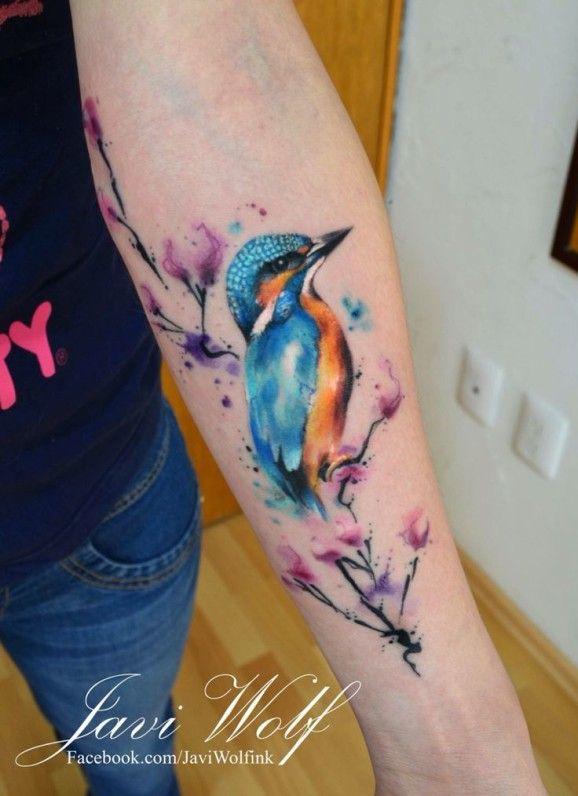 Charming tattoo by Javi Wolf.