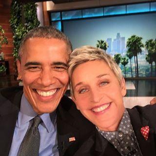 Ellen DeGeneres & Barack Obama