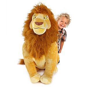 Disney Mufasa Plush - The Lion King- Jumbo 34''   Disney ...