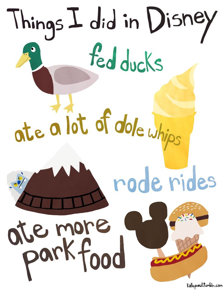[JOURNAL] Things I did in Disney. use clip art in your journals and binders.