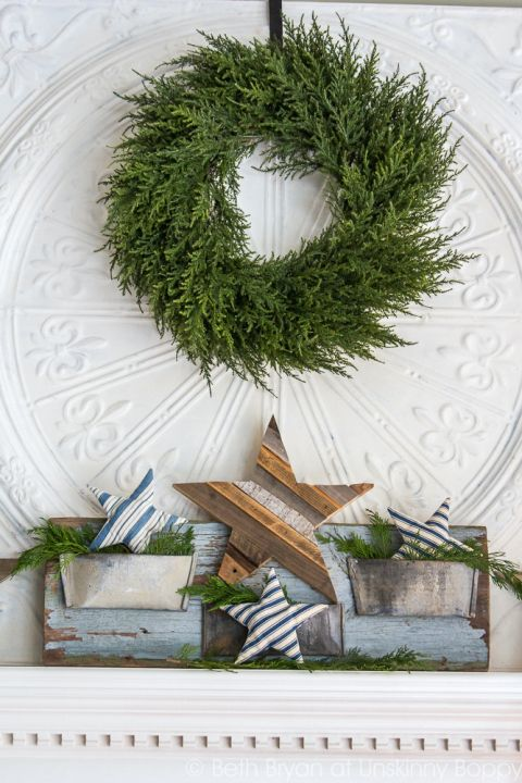 Lovely styling of wreath by unskinny boppy
