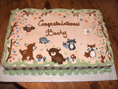 forest friends baby shower cake | Baby Shower Cakes by Casey's Cakes