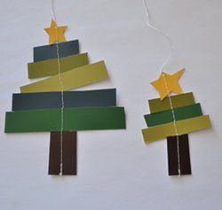 Paper Strip Christmas Tree Ornaments