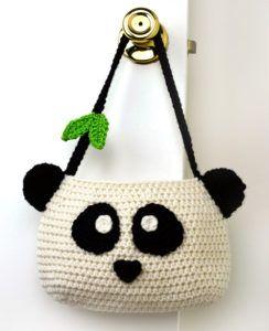 crochet panda purse, pattern for purchase
