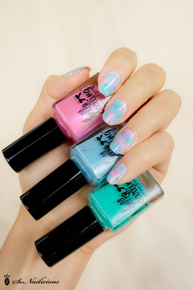 Pretty pastel nails, hello darling nail polish #nails