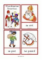 Woordkaarten: Sinterklaas