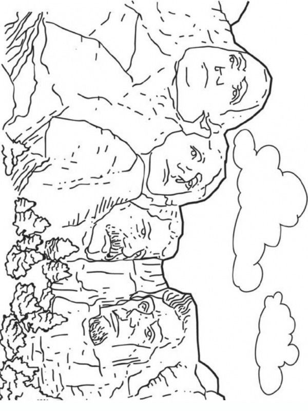Mt Rushmore coloring pages