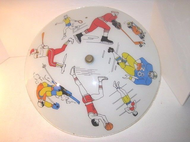 Vintage sports theme #glass ceiling #light hockey baseball basketball #football e,  View more on the LINK: http://www.zeppy.io/product/gb/2/371775090219/