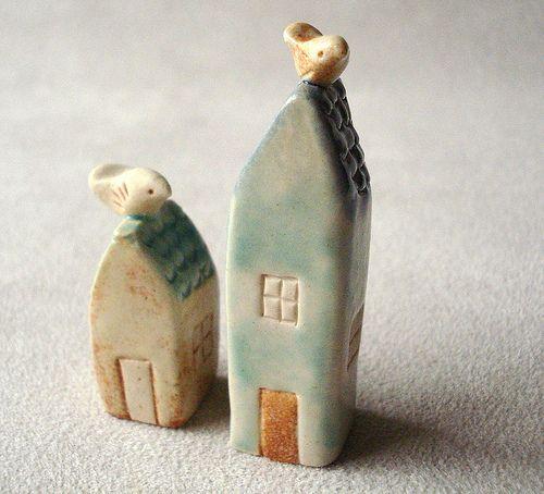 tiny clay houses by Ferragamo Studio, via Flickr