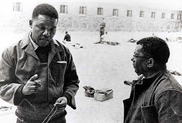 Mandela in Robbin Island Prison