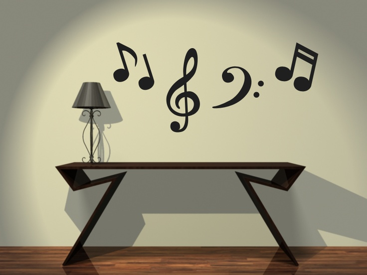 Notas musicales for Vinilo decorativo musical pared