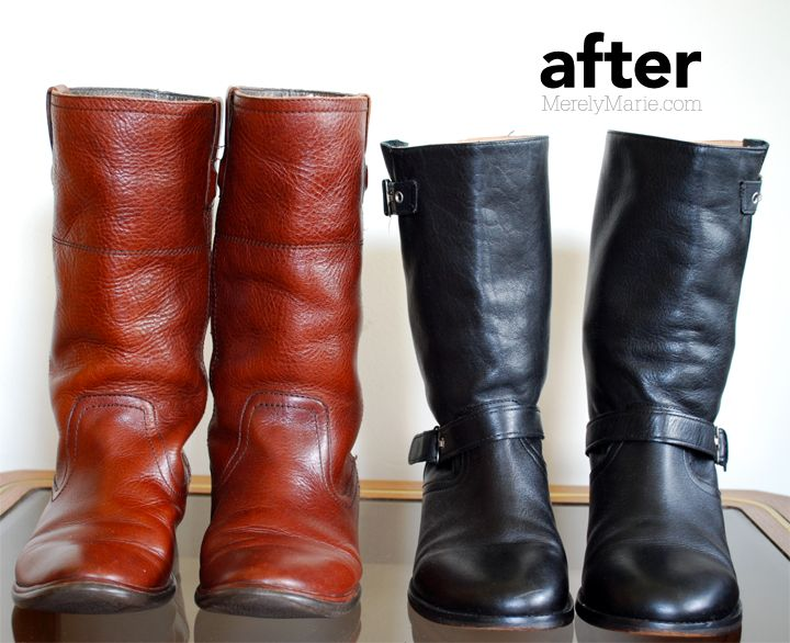 How to restore old boots #DIY | fashion