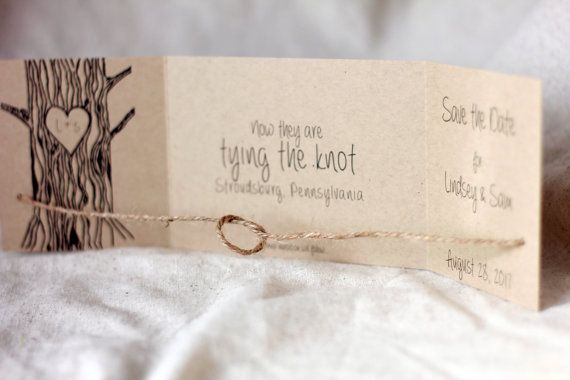 Rustic Tying the Knot Save the Date Tie by LovelyRusticWeddings