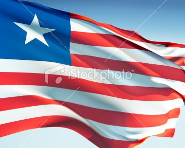 Flag of Liberia Royalty Free Stock Photo