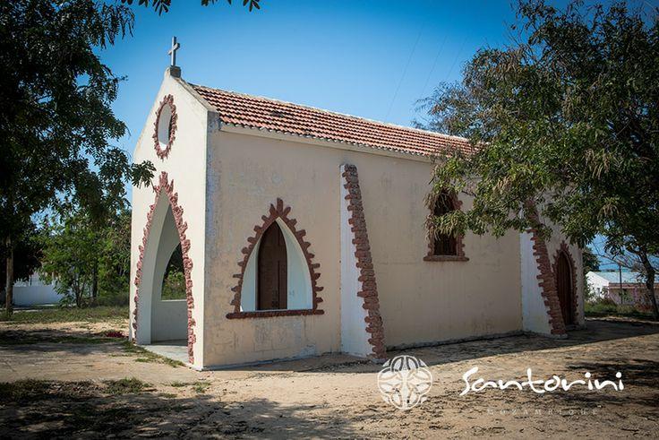 The quaint church in town. #santorini #mozambique #vilanculos #bazaruto #church