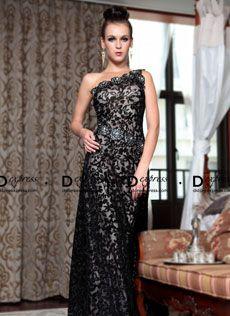 Vestido de um ombro em tule estampado com bordado 30856 - R$650,00 : Dstore Express, Vestidos de Festa Importados Acessíveis