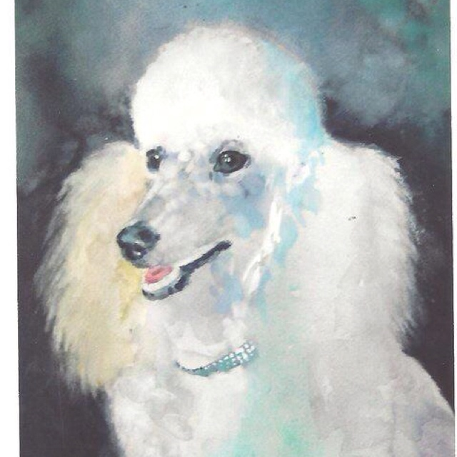 Watercolor of Lily by my brother Michael Durrant