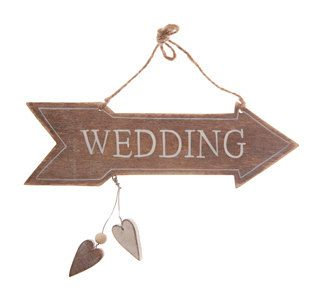 Rustic Wedding Signs Wooden Wedding Signs by KatesPartyShop, £5.99