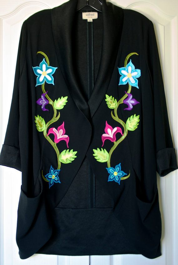 Traditional Style Floral Applique Ribbon Shirt by FeralFawn
