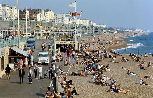 Brighton Beach 1971. Before the marina and wheel.