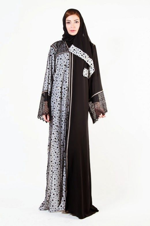 New Arabic Designer Abayas & Modern Gowns designs with Hiab Collection 2015-2016 for Women (1)
