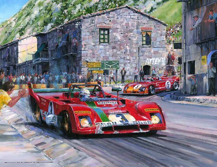 Targa Florio 1972, Ferrari 312 PB Motorsport Art Print by Nicholas Watts