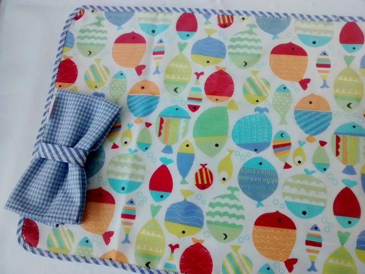 Set de individual+toalla+servilleta