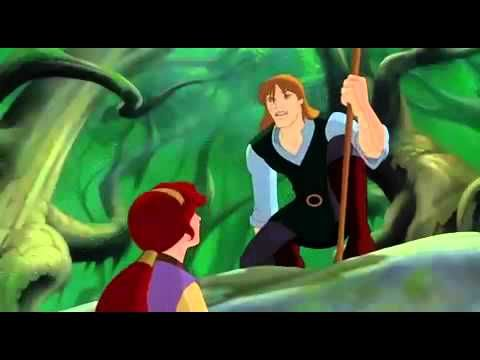 Quest for Camelot - I Stand Alone (English)  Garrett is the cartoon, male, blind 13th century version of me. We both have a bit of an attitude problem