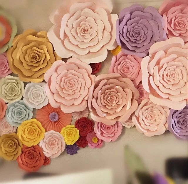 Online Shop Diy Half Made Giant Paper Flowers Large Artificial Rose Flower Home Wedding Party Backdrop Giant Paper Flowers Backdrops For Parties Paper Flowers