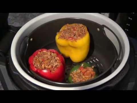 Ninja Foodi And Stuffed Bell Peppers Youtube Stuffed Peppers Ninja Cooking System Recipes