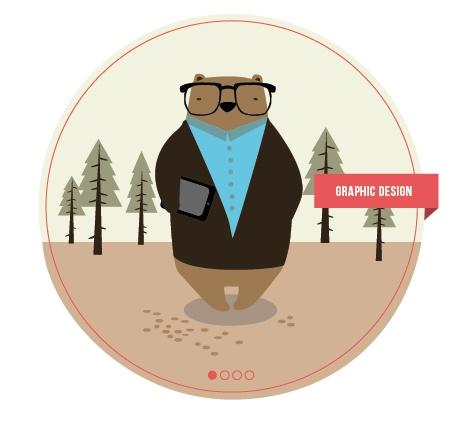 Graphic Design Bear