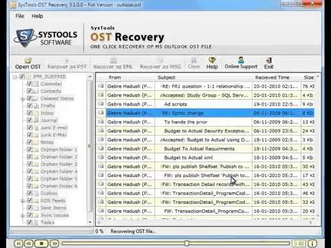 Use OST Recovery application management tool to repair corrupted Outlook OST file within few seconds. This OST Recovery software supports all Windows operating system such as XP, ME, CE, NT and Win7. For more information you can visit upon our commercial site.