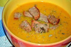 Supa crema de cartof dulce si linte rosie - Delicii Sanatoase