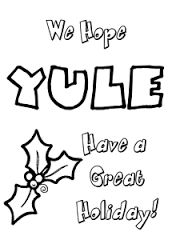 Image result for pagan yule coloring pages