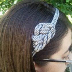 Create an interesting knotted rope headband that can work for all seasons.