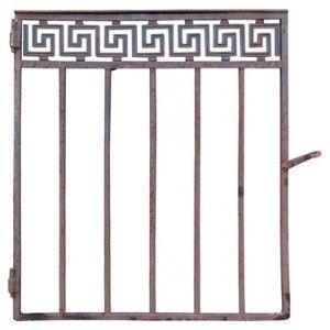 greek key wrought iron  | Antique Greek Key Iron Garden Gate