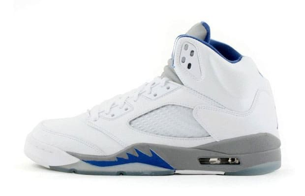"Air Jordan V ""White/Sport Royal/Stealth"" - The 15 Best Air Jordan V Colorways of All Time | Complex"