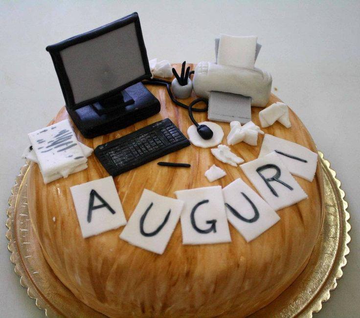 #computer #torta della pasticceria La Mimosa di http://www.simocakedesigner.it