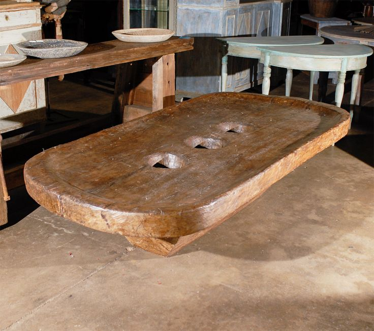 An Early 20th Century Naga Grain Grinding Table From North East India.
