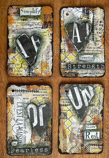"""It's been quite some time since I have done any altered playing cards for my 52 cards pickup project. If you don't know that """"52 Card Pickup"""" means, learn more about it here. This time my group of fo"""