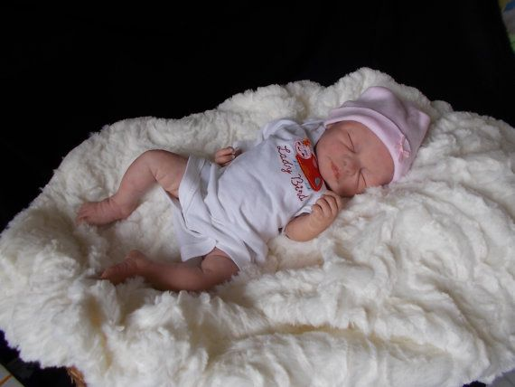Baby Girl newborn OoaK polymer clay by Babies4Hugs on Etsy