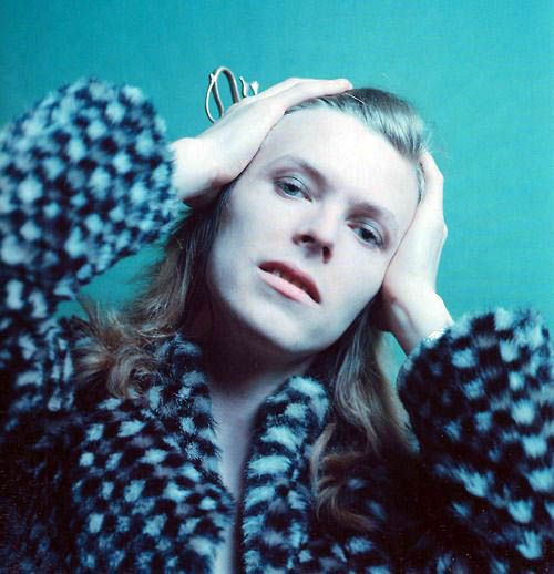 David Bowie, Hunky Dory cover shoot, 1971, by Brian Ward.