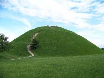 The Krakow Mounds in Poland are a series of mysterious, prehistoric man-made hills, each about 50 feet high and about 6 miles apart. Like their distant counterparts Stonehenge and Newgrange, the Krakow Mounds are astronomically aligned.