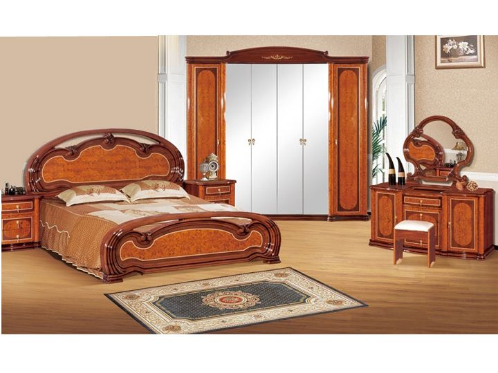 Add Beauty To Your Bedroom With This Stunning Bedroom Set In Glossy Finish Solid And