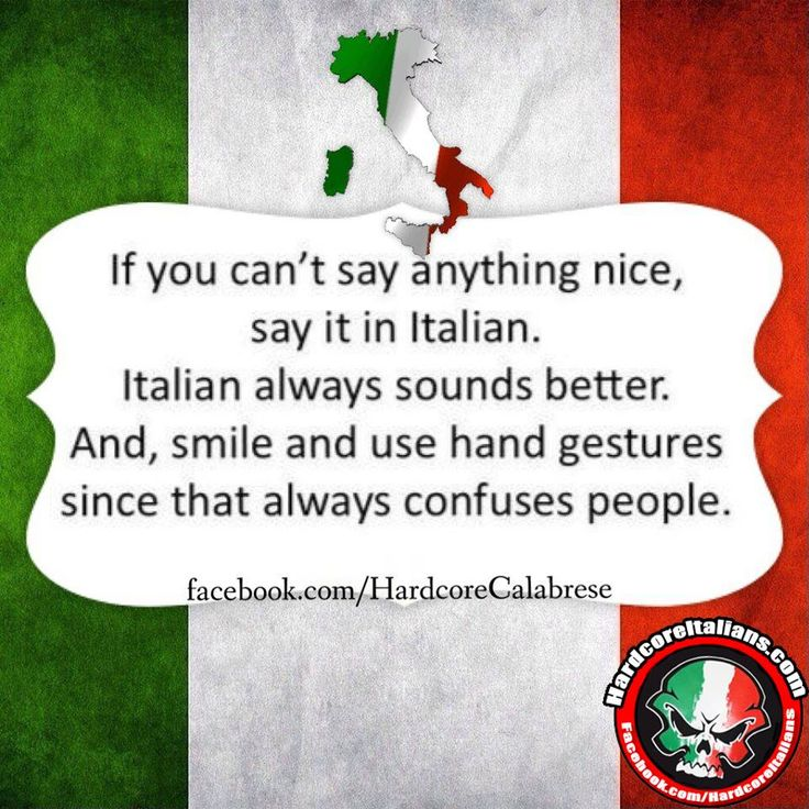 If you can't say anything nice, say it in Italian. Italian always sounds better, And smile and use your hand gestures since that always confuses people.  LOL