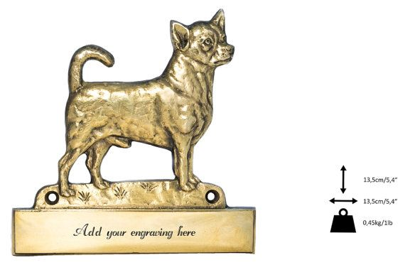 Chihuahua dog plaque can be engraved limited by ArtDogshopcenter