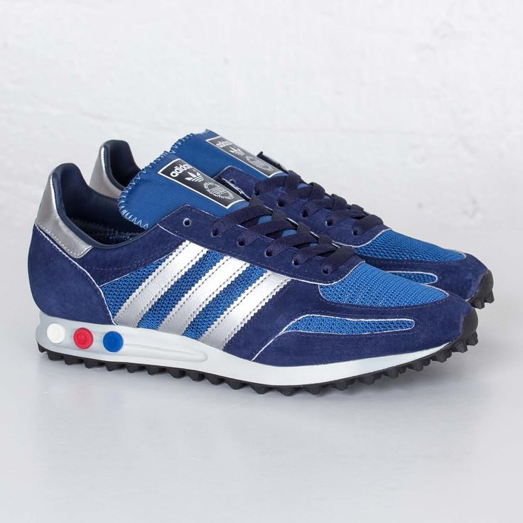 Adidas LA Trainer OG - Dark Marin/Silver Metallic/Dark Blue available now  online @titoloshop by titoloshop | Chaussure | Pinterest | Dark blue, Train…