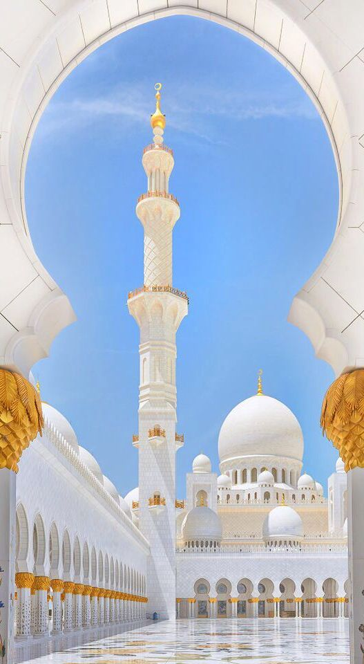 Sheikh Zayed Grand Mosque, Abu Dhabi I was so lucky to visit this beautiful mosque in January!