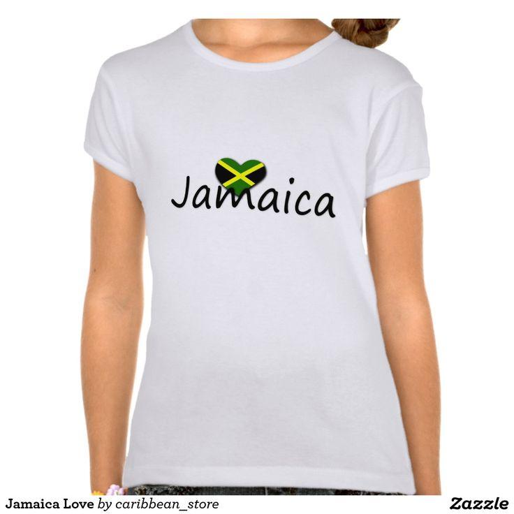 Jamaica Love Kids T-Shirt. Jamaican Tees & Clothing. #Caribbean #Zazzle