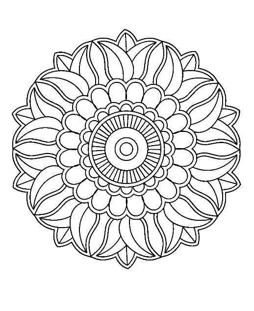 25 beste idee n over bloemen mandala op pinterest mandala art mandala tekenen en mandala - Grot ontwerp ...